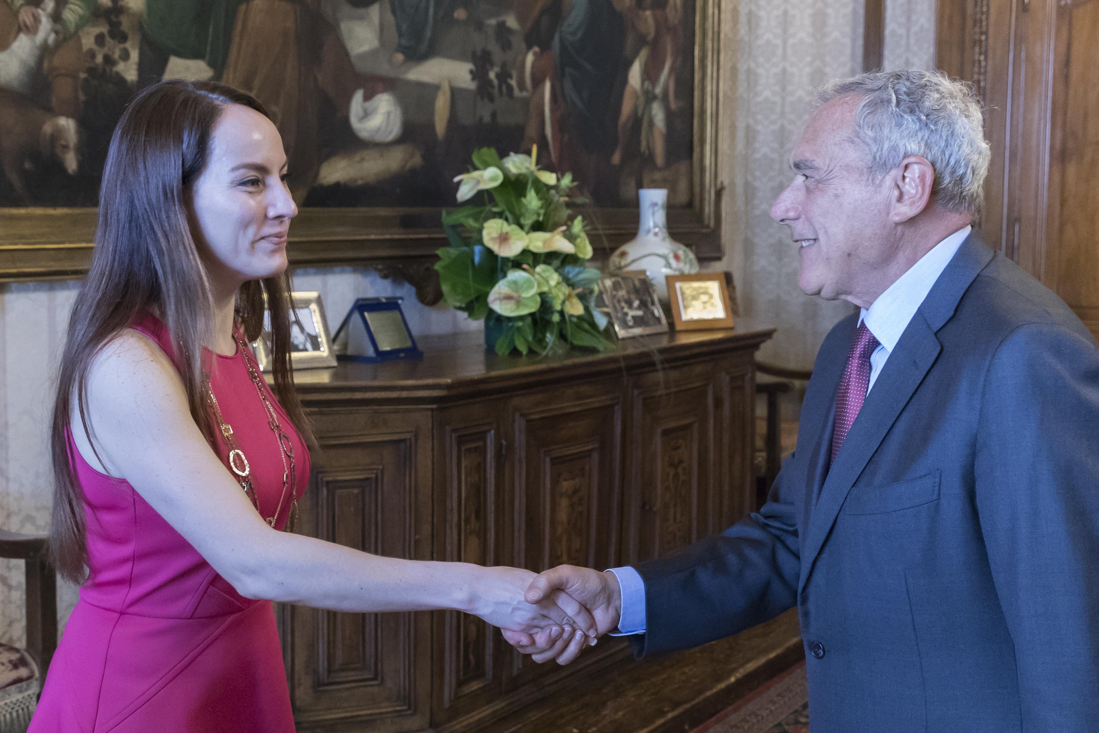 Presidente visita della presidente della for Commissione esteri camera