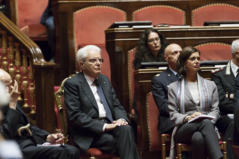 Il presidente del senato commemorazione solenne del for Presidente dei deputati