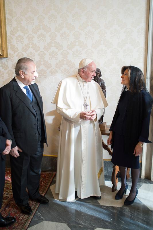 Il Presidente Del Senato Udienza Con Sua Santita Papa Francesco