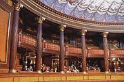 Immagine delle tribune del pubblico nell'Aula di Palazzo Madama