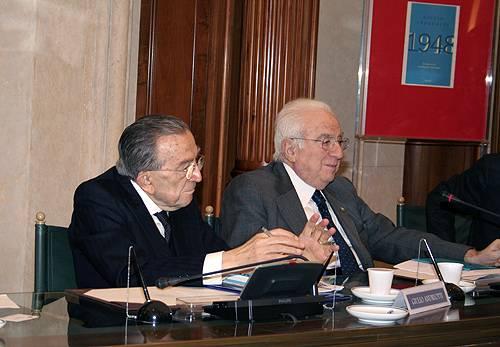 I senatori a vita Giulio Andreotti e Francesco Cossiga