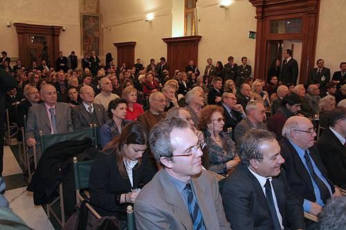 La Sala Capitolare durante l'incontro