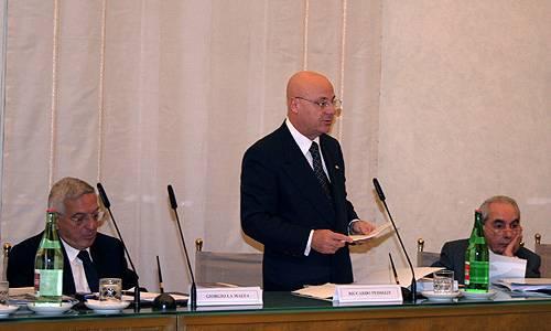 Giorgio La Malfa, Riccardo Pedrizzi e Giuliano Amato