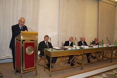 L'intervento del Presidente del Senato, Marcello Pera