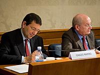 Il senatore Ignazio Marino e il giornalista Luciano Onder